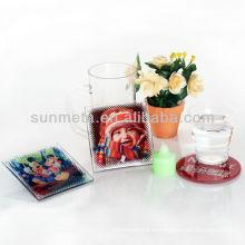 Estera de taza de cristal de la sublimación con la capa