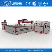 2000 * 4000mm CNC pont type coupe-jet d'eau titane couteau CNC
