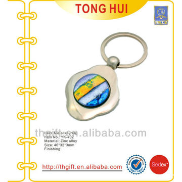 Supermarket cart euro coin token keychains w/any different requests