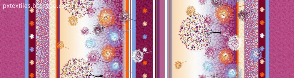 Microfibre Printed Plant Cashmerec Fabric