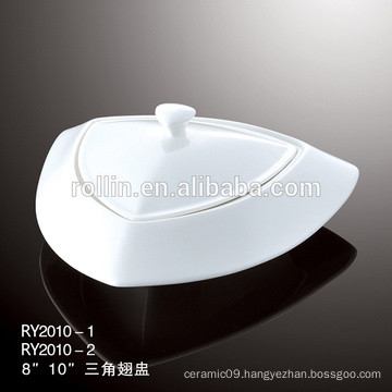 Hotel&restaurant white ceramic soup plates,crockery soup plates, porcelain dinnerware set