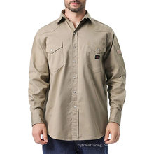 FR Work Shirt Long Sleeve Men's Work Shirts