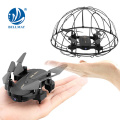 RC Drone with 0.3M Camera Foldable Quadcopter Toy Mini Helicopter with Ball Propeller