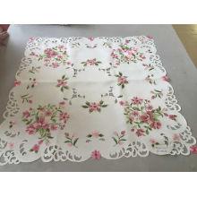 Toalha de mesa de dia de Páscoa de estilo artesanal Cutwork bordado