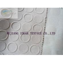 Geprägte beflockte Polyestergewebe für Kissen