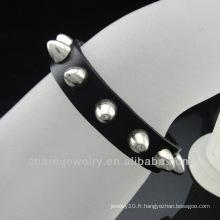 Bracelet en cuir véritable fait main 2014 pour homme BGL-034