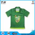 100% poliéster Cricket Uniformes Jersey com padrão
