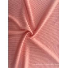 Prix de gros tricot côtelé Polyester Spandex Tissu
