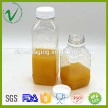 Heißer Verkauf Getränkgebrauch Kaltdrucksaftverpacken französische quadratische Plastikflaschenherstellung