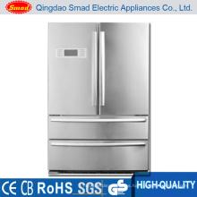 refrigerador de lado a lado de acero inoxidable para América del Norte