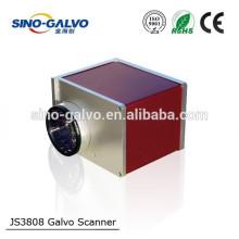 CO2 JS3808 digital laser galvo scanner for leather marking engraving