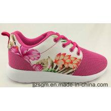 Hermoso chino patrón de flores zapatos ocasionales para señora