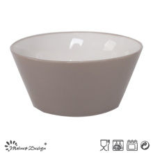 13.6cm Ceramic Bowl Outside Grey Inside White