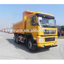 Dayun brand 6X4 drive dump truck for 10-25 cubic meter