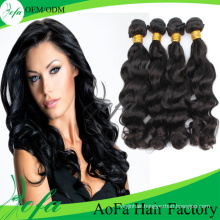 Wavy Hair Weaving/ Remy Hair Extension / Virgin Brazilian Human Hair