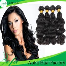 Tecelagem do cabelo ondulado / extensão do cabelo de Remy / cabelo humano brasileiro do Virgin