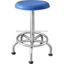 surgery stool blue plastic top with five legs