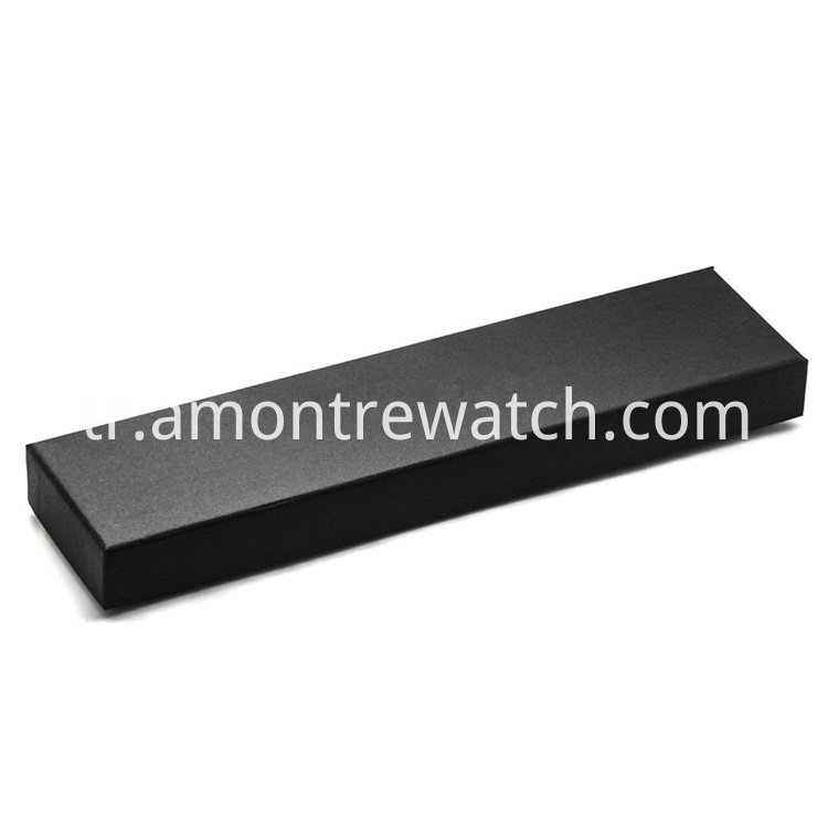 rectangle black watch box