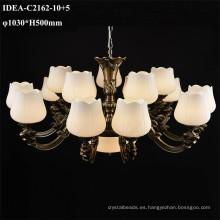colgantes de la lámpara lámparas de cobre luz de cristal