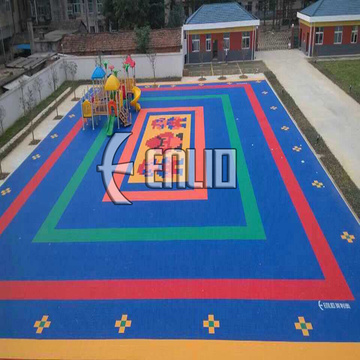 Plancher de sport Enlio Outdoor Kids Playground PP