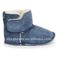 Туфли из овечьей шкуры для новорожденных