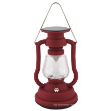 Lámpara retro solar que acampa de la linterna con diseño de la lámpara de queroseno