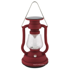 Solar Retro Camping Lantern Lamp with Kerosene Lamp Design