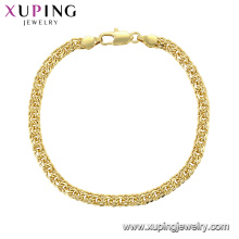 75474 xuping fashion jewelry high quality gold plated bracelet hand chain simple style