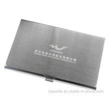 Porte-cartes de visite en acier inoxydable brossé pour salon professionnel (BS-S-003)