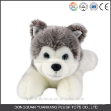 Black and white animated stuffed plush puppy angel dog