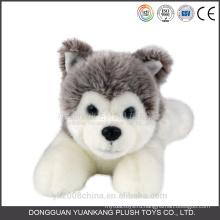 Черный и белый анимированные плюшевый щенок ангел собака