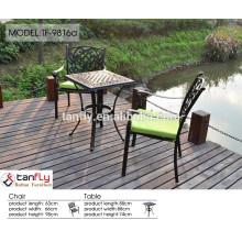 muebles de exterior de fibra de vidrio negro venta por mayor de China