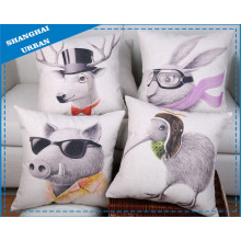 Animal Polyester Linen Throw Pillow Cushion