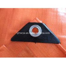 HDPE Coated Tarpaulin Sheet with Black Corners and Aluminium Eyelets