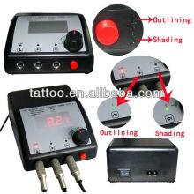 Fuente de alimentación del tatuaje profesional Digital LED Dual