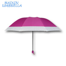 Pink Color Guarda Chuva USA and Brazil Market Big Folding Umbrella Wholesale Manufacturer China