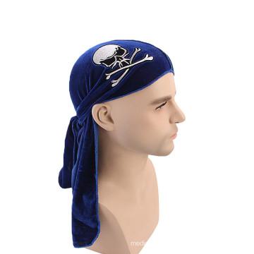 Padrão de crânio bandanas acessórios para o cabelo turbante headwrap