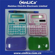 Dual power cartão de crédito tamanho 8 dígitos calculadora de bolso dobrável