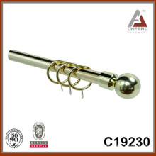 C19230 metal ball fancy curtain rod finials,double single rail curtain rod accessories
