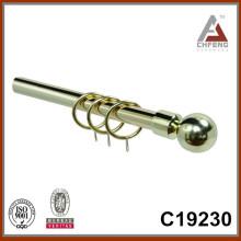 C19230 металлический шар фантазии карнизы штанги, двойные однорельсовые аксессуары для штор