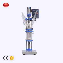 1L+Small+Volume+Chemical+Jacketed+Stirred+Glass+Reactor