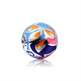 Fashion 925 Sterling Silver Charms Enamel Beads For Bracelets