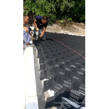 Textured HDPE Geocell High tensile strength high quality 200-330 for retaining wall