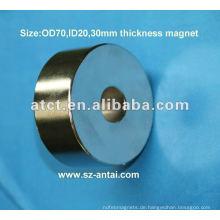 Super ring-Magnete, großer Ring-Magnete, Neodym-Magnete, OD70XID20X30mm