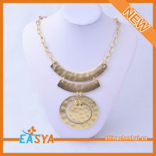 Long Gold Medal Chain Link High Quality Pendant Necklace