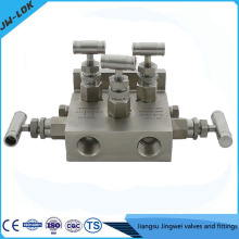 Best-selling SS high Pressure gauge root valve and five-valve manifolds in china
