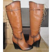 Botas de joelho de mulheres de design mais recentes (Hcy02-1128)