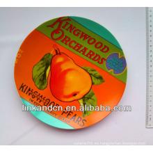 La mejor placa de cerámica de la calidad de la fruta con diseño de la pera, adorna la placa de cena con diseño de encargo