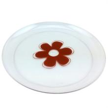 """Посуда 9 """"Круглый пластиковый пластинчатый одноразовый поднос"""