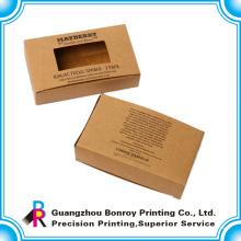 Cajas de zapato de cartón de lujo con precio más fuerte a granel con ventana